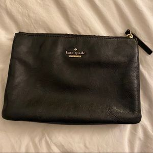 Kate Spade Black Leather Double Pouch Bag